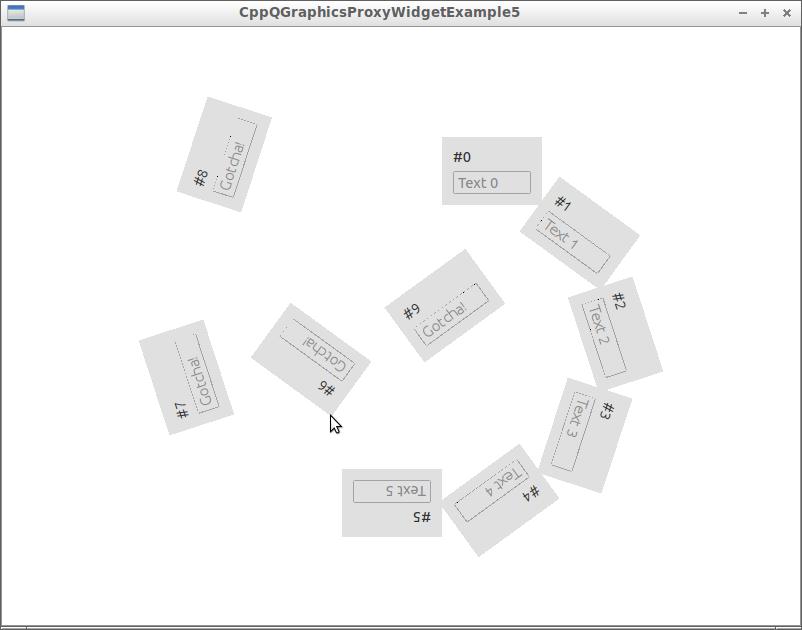QGraphicsProxyWidget example 5