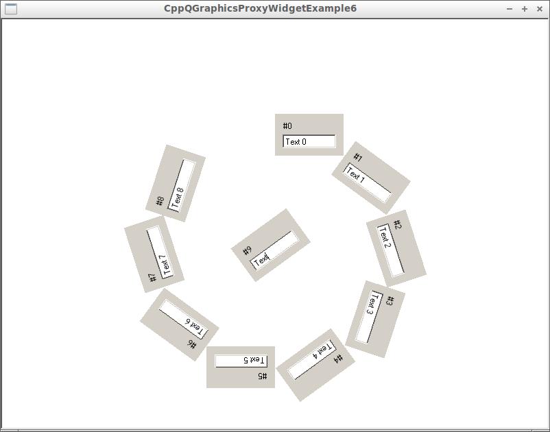 QGraphicsProxyWidget example 6