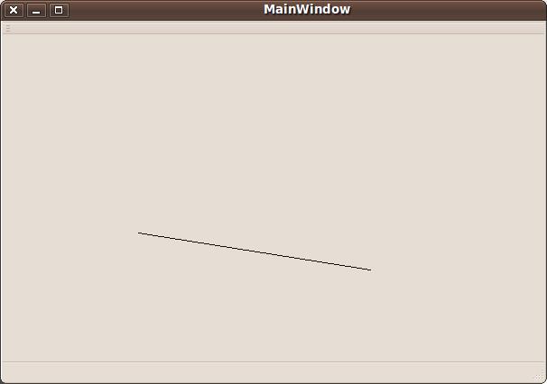 Drawing Line Qt : Qt creator how to create a simple d graphics program