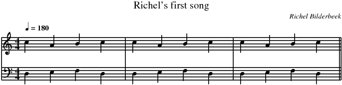 First song musical score